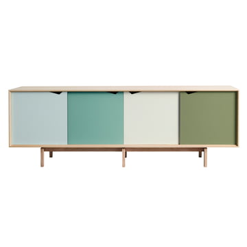 S1 Sideboard by Andersen Furniture in soaped oak (doors Dali, Capri, Alpino, Pale Olive)