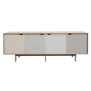 S1 Sideboard by Andersen Furniture in soaped oak (doors Doeskin, Iron, Silver, Iron)