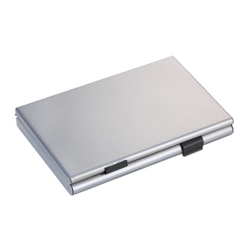 Troika - Business Card Holder, titanium colour / black