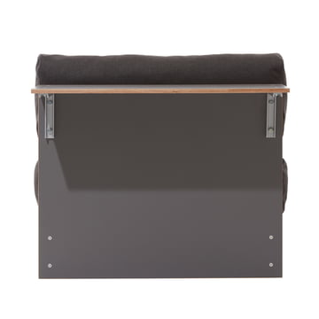 Sofabank with Side Tray by Müller Möbelwerkstätten in CPL anthracite