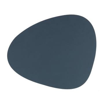 LindDNA - Table Mat Curve L 37 x 44 cm, Nupo Dark Blue Leather