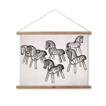 Zebra drawing 40 x 30 cm by Kay Bojesen Denmark