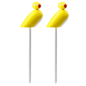 Kay Bojesen Denmark - Sparrows with stick (set of 2)