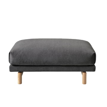 Rest pouf grey (163 Remix) / oak nature by Muuto