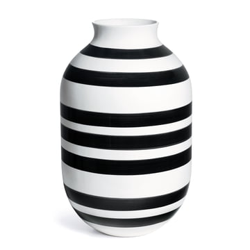 The Omaggio vase, H 50 cm by Kähler Design, black / white