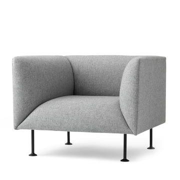 Menu Godot Armchair in light gray