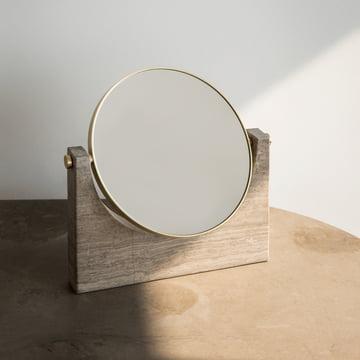 Menu - Pepe Marble Mirror, brass / brown