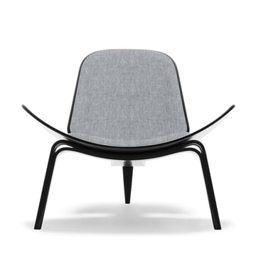 Carl Hansen - CH07 Shell Chair, beech black / grey (Hallingdal 65, 130)