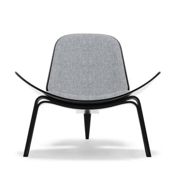 Carl Hansen - CH07 Shell Chair, beech black / grey (Hallingdal 65, 130)