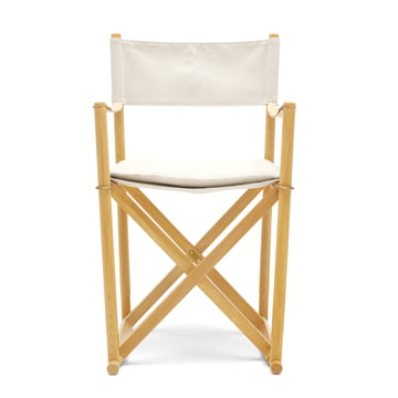 Folding Chair MK99200 by Carl Hansen in canvas / beech soaped