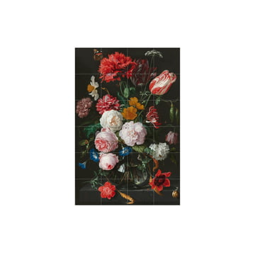 Still Life with Flowers in a Glass Vase (De Heem) by IXXI in 80 x 120 cm