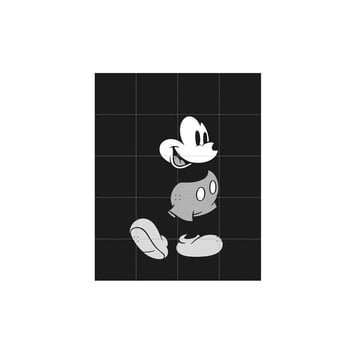 Mickey Mouse (black and white) by IXXI in 80 x 100 cm