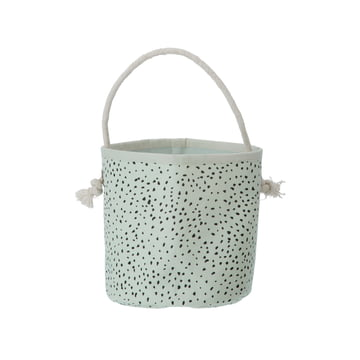 Mini Dot Basket by ferm Living in mint green
