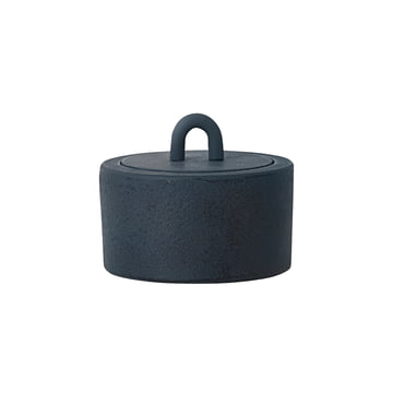 Buckle Jar by Ferm Living in dark blue