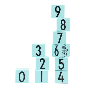AJ Wooden Number Cubes (set of 10) by Design Letters