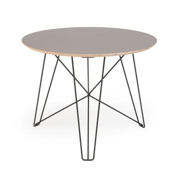 Spectrum - IJhorst coffee table L, Ø 60 cm, black (RAL 9005) / gray