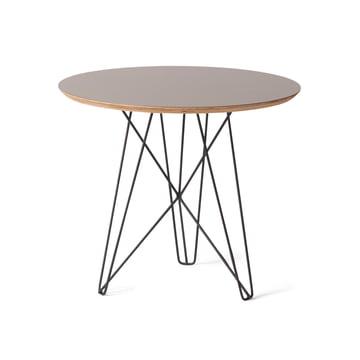 Spectrum - IJhorst side table M, Ø 50 cm, black (Ral 9005) / grey