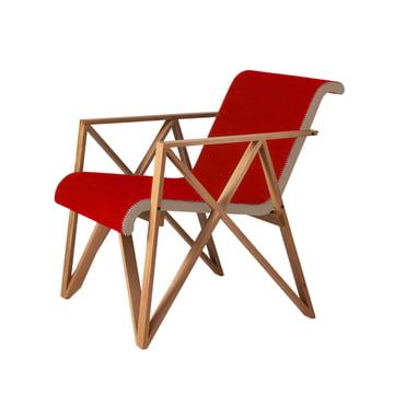 Spectrum - Gerrit Rietveld Armchair for Metz&Co, oak frame, upholstery Divina 3 (623) / Remix 2 (612) Basis
