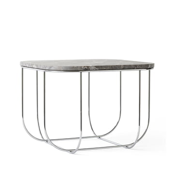 Menu - Cage Table, Marmor / Chrom