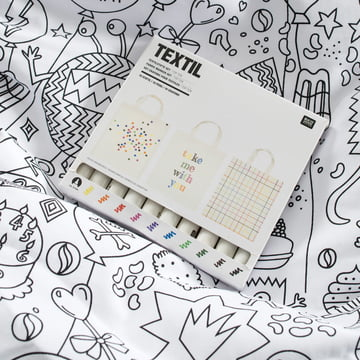 Beanbag incl. 10 pens for coloring