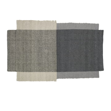 Rug From New Wool in Gray