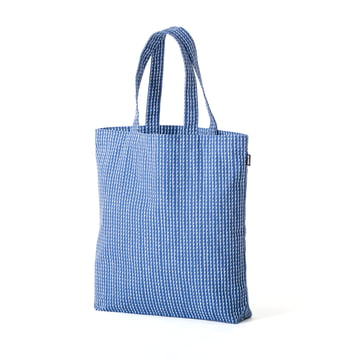Rivi Canvas Bag by Artek in white / blue
