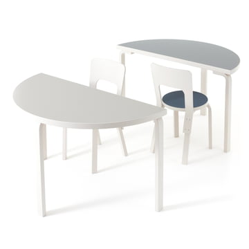 95 table and stool by Artek