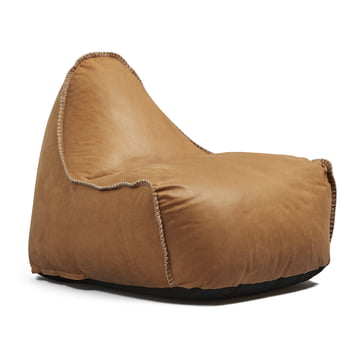 Retro it Dunes beanbag by Sack it in Cognac leather