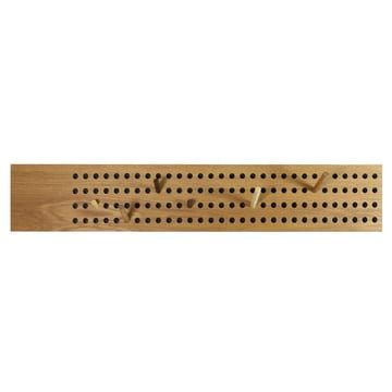 The We Do Wood - Scoreboard Coat Rack, Horizontal in Natural Oak
