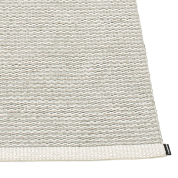 Mono rug by Pappelina in Fossil Grey / Warm Grey