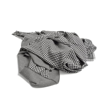 Checked Out Wool Blanket by Hay in black