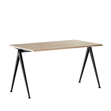 Pyramid Bench 140 x 75 cm by Hay in Black / Matt Lacquered Oak