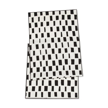 Iso Noppa Table Runner 45 x 160 cm by Marimekko in Black / White