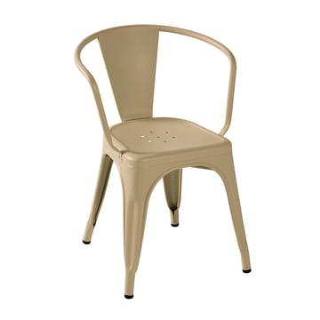 A56 Armchair by Tolix in Matt Nutmeg