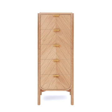Hartô - Marius Chest of Drawers 50 cm, natural oak