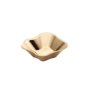 Aalto Flat Bowl 50 x 182 mm by Iittala in Rose Gold