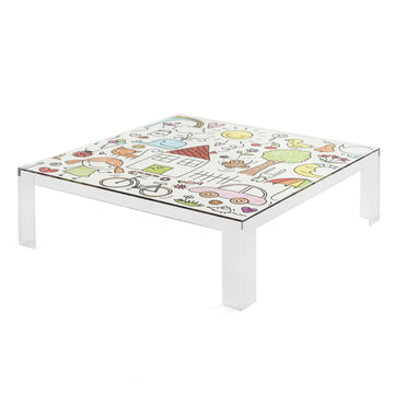 Kartell - Invisible Kids Table with a Colourful Design