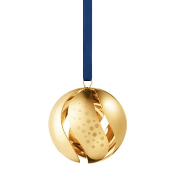 Christmas Bauble 2017 by Georg Jensen, gold