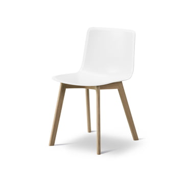 Pato Chair (veneer / wood) by Fredericia in lacquered oak / white