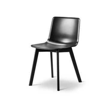 Pato Chair (veneer / wood) by Fredericia in Black Lacquered Oak