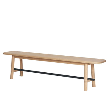 Hector Bench by Hartô, oak / anthracite grey (RAL 7016)