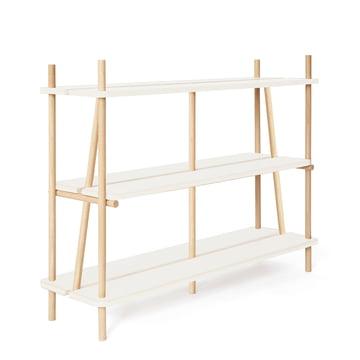 Simone Bookshelf by Hartô 120 cm in Oak / White (RAL 9016)