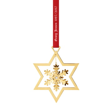 The Georg Jensen - 1987 ornament - snowflake, gold-plated