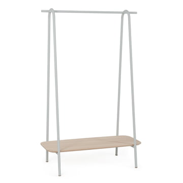 Lucien Hall Stand by Hartô in oak / light grey (RAL 7035)