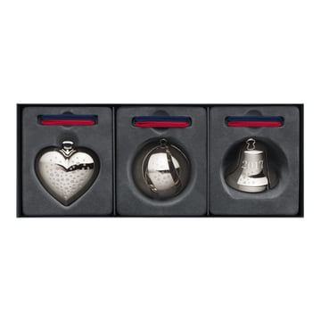 Gift Set 2017 (Heart / Bell / Baubel) by Georg Jensen, Palladium Plated