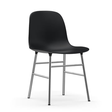 Form Chair (Chrome) by Normann Copenhagen in Black