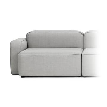 Rope Sofa Wide Module 300 Wide, Left Armrest by Normann Copenhagen in Light Grey (Fame Hybrid 1101)