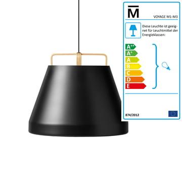 The Million - Voyage M1 Pendant Lamp Ø 58 cm in black / oak