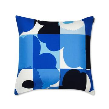 Marimekko - Ruuto Unikko Cushion Cover 50 x 50 cm, blue / white