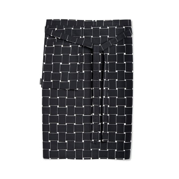 Basket Half Apron by Marimekko in Black / White